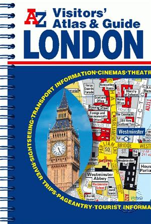 London, England, Visitors Pocket Atlas and Guide, A-Z Map