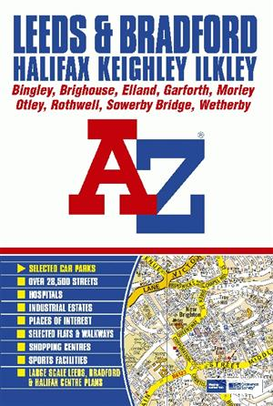 Leeds bradford halifax keighley ilkley street atlas for A s salon supplies keighley