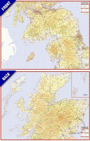 Scotland North and South Reversible Map A-Z - Folded