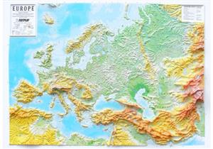 Europe Raised Relief Map - Testplay