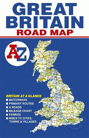 Great Britain Road Map A-Z - Folded