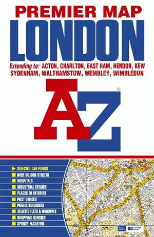London, England, Street Map A-Z Premier Series- Folded