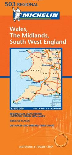 Wales, The Midlands, South West England - Michelin Maps