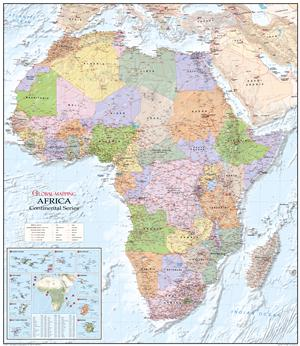 Africa Large Wall Map - Global Mapping