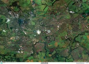 SkyView Airdrie Aerial Photo-Scotland