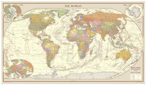 Antique Style World Map Huge *Award Winning* from Global Mapping