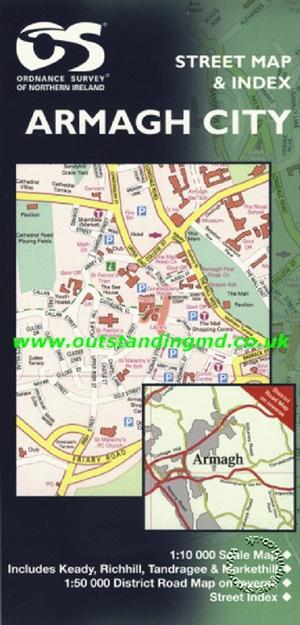 Armagh City Street Map - Ordnance Survey Northern Ireland