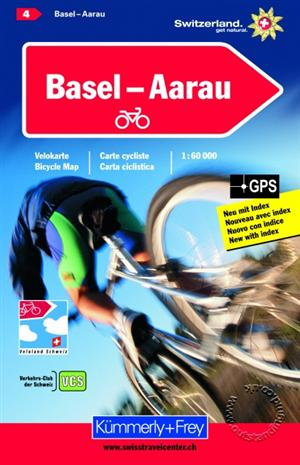 Basel - Aarau, Switzerland, Cycling Map Sheet 04  - Kummerly and Frey
