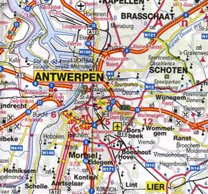 Belgium ITMB International Travel Maps