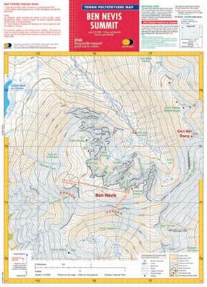 Ben Nevis, Scotland, XT40 Summit Map - Harvey Maps
