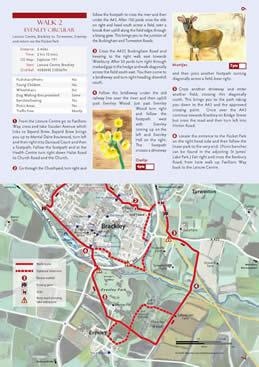 Walk and Cycle Brackley, Northamptonshire, Guide - *Award Winning *-Global Mapping - Walking Guide