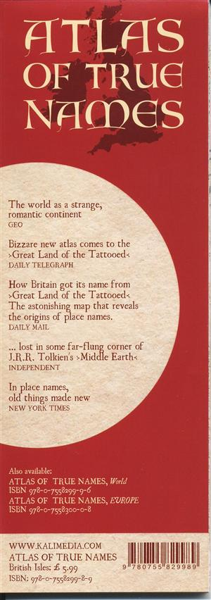 British Isles, Atlas of True Names - Kalimedia Publishing