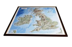 British Isles Relief Map Light Frame - Dorrigo