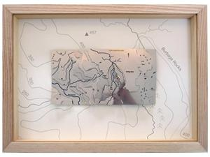 Burbage Edge Wapenmap Relief Map - Natural Ash Frame