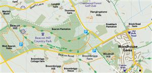 Charnwood Forest Regional Park Visitors Map - Global Mapping Winner of the Ordnance Survey OpenData