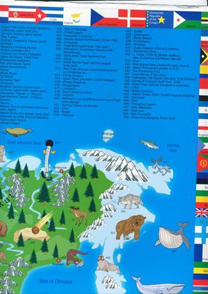 Children's Illustrated World Map - Kruger and Schonhoff - Wall Map