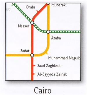 Cairo Transport Map, Egypt. Metro Map