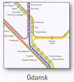 Gdansk Transport Map, Poland