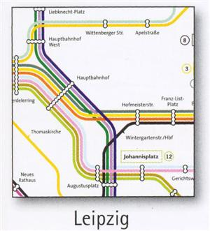 Leipzig Transport Map, Germany