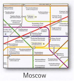 Moscow Transport Map, Russia
