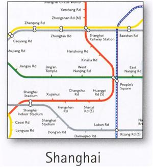 Shanghai Transport Map, China