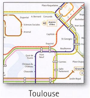 toulouse tansport map france metro and selected bus map map stop top maps at a reasonable. Black Bedroom Furniture Sets. Home Design Ideas