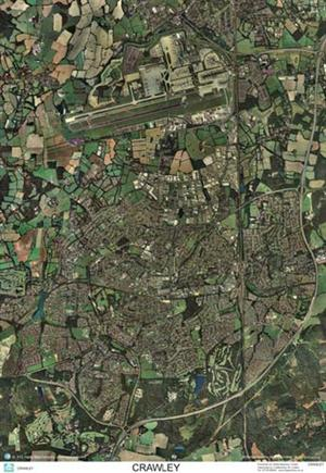 SkyView Crawley and Gatwick Airport, Sussex Aerial Photo- England