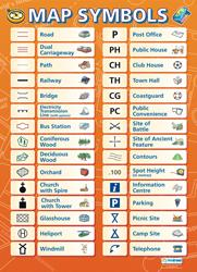 Map Symbols Education Poster Daydream Education Isbn