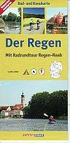 Der Regen, Germany, Canoe And Cycle Map