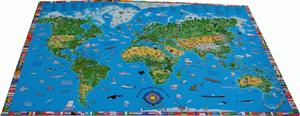 Children's Map Deskmat - Kruger and Schonhoff