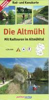 Die Altmuhl, Germany, Canoe And Cycle Map