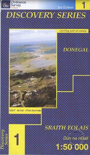 Donegal (NW), Republic of Ireland, Discovery 1 Map