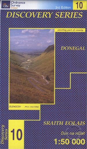 Donegal (SW), Republic of Ireland, Discovery 10 Map