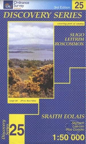 Sligo(E), Leitrim, Roscommon, Republic of Ireland, Discovery 25 Map