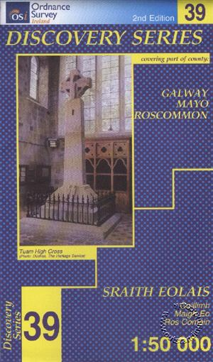 Galway, Mayo, Roscommon, Republic of Ireland, Discovery 39 Map