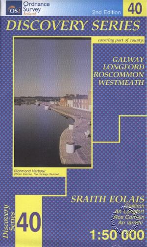 Galway, Longford, Roscommon and Westmeath, Republic of Ireland, Discovery 40 Map