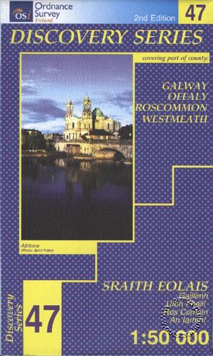 Galway, Offaly, Roscommon and Westmeath, Republic of Ireland, Discovery 47 Map