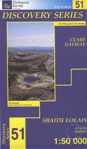 Clare, Galway, Republic of Ireland, Discovery 51 Map
