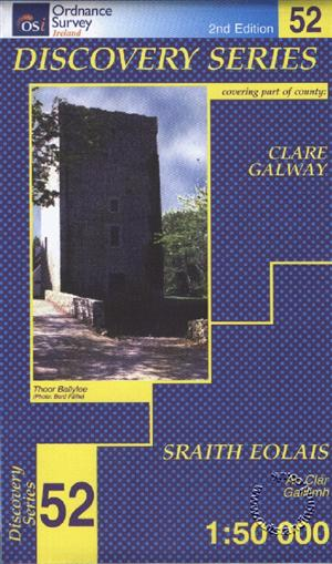 Clare, Galway, Republic of Ireland, Discovery 52 Map