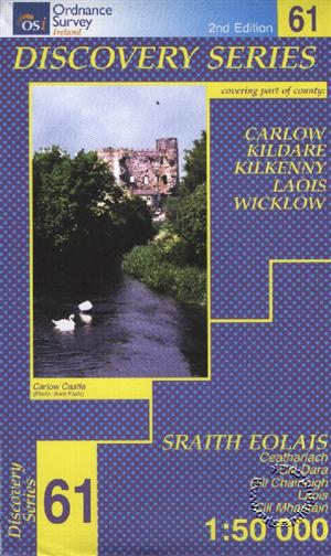 Carlow, Kildare, Kilkenny, Laois and Wicklow, Republic of Ireland, Discovery 61 Map