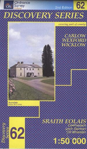 Carlow, Wrexford, Wicklow, Republic of Ireland, Discovery 62 Map