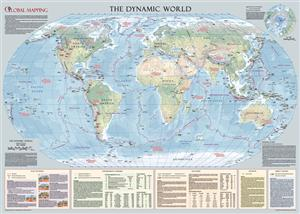 The Dynamic World-Large Wall Map, Global Mapping  AS SEEN ON TV 'Voted Best Wall Map'