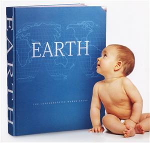 Earth Atlas -  Millennium House- Hand Bound in leather - SAVE 33%