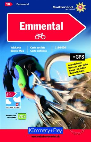 Emmental, Switzerland, Cycling Map Sheet 10 - Kummerly and Frey