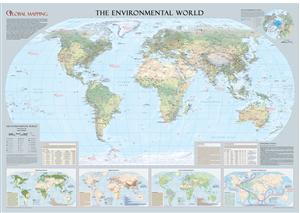 Environmental World Large Wall Map *BEST WALL MAP WINNER *  - Global Mapping