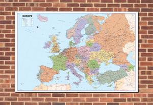 Europe Wall Map, Outdoor Education - Tiger Moon