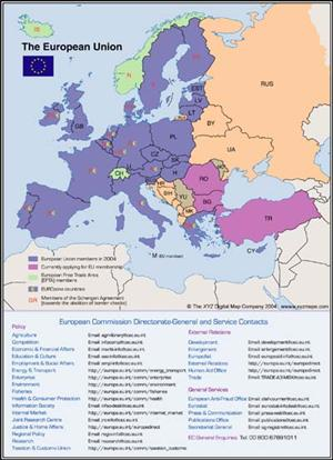 European Union Map Digital Download - XYZ