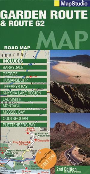 Map Of Route 62 South Africa.Garden Route And Route 62 South Africa Map Studio Isbn