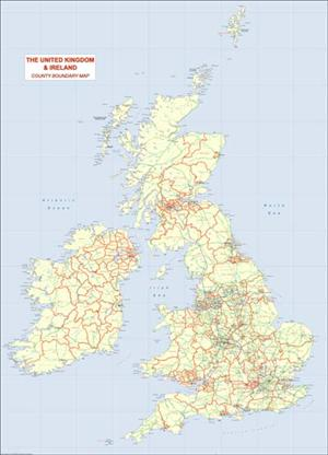 Great Britain 1:1 Million Map - Digital DownLoad - EPS, PDF or TIF file - XYZ