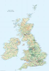 Great Britain 1:2 Million Map - Digital Download - EPS, PDF or TIF file - XYZ